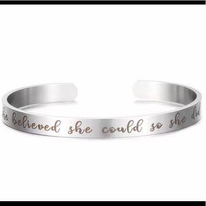 Jewelry - Stainless Steel Inspirational Bracelet